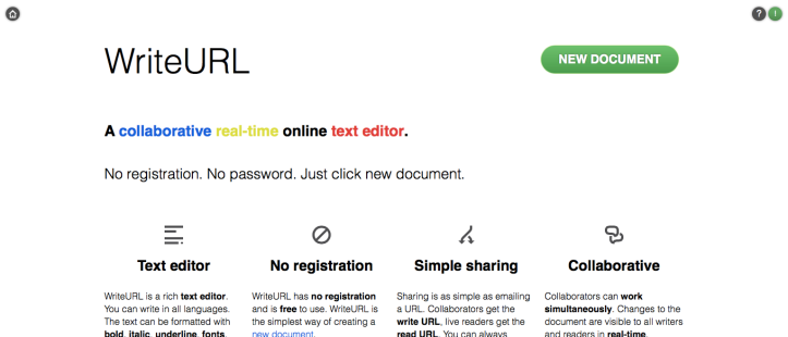 WriteURL: A Simple, Registration-Free Collaborative Writing