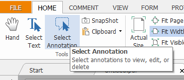 Select Annotation Button