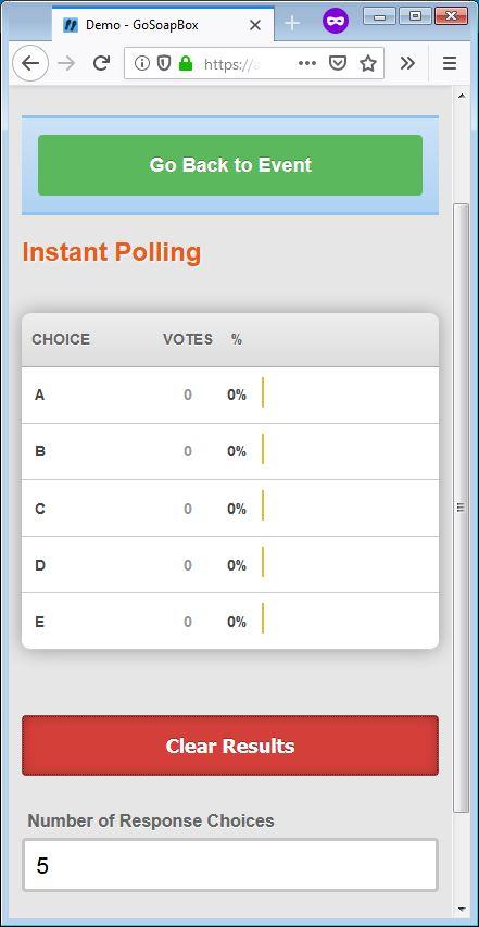 gosoapbox demo instant poll