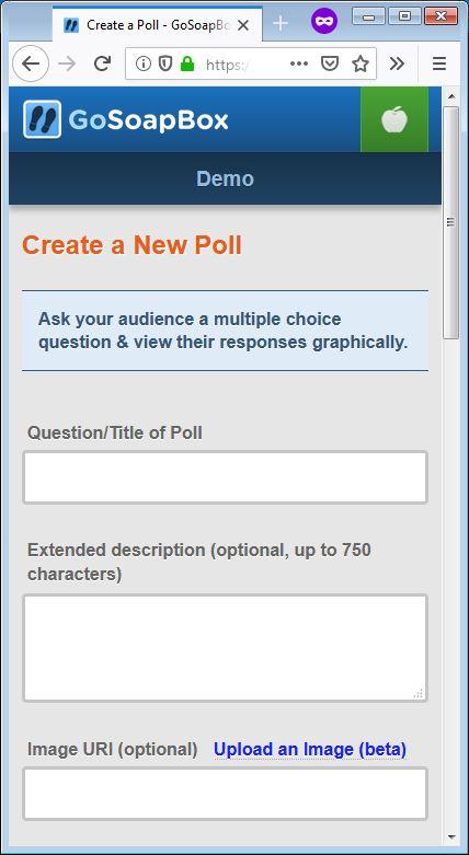 gosoapbox demo poll 1