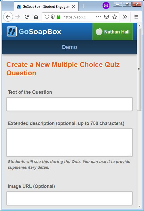gosoapbox demo quiz question 1