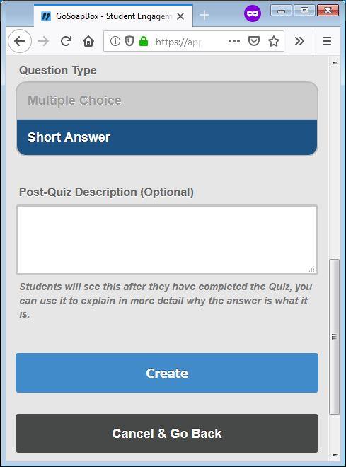gosoapbox demo quiz question 2
