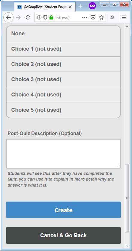gosoapbox demo quiz question 4