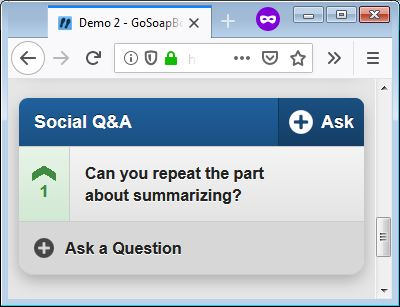 gosoapbox social question